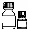 1. The small bottle contains the microcapsules, the large bottle contains the diluent.